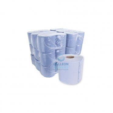 Value 2 Ply Blue Centrefeed Rolls - Ready Made Parcel