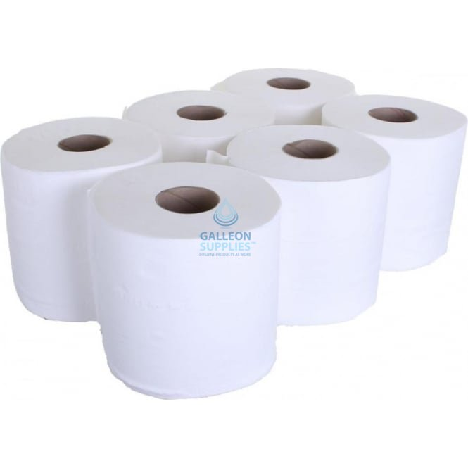 Galleon Value 2 Ply White Centrefeed Rolls