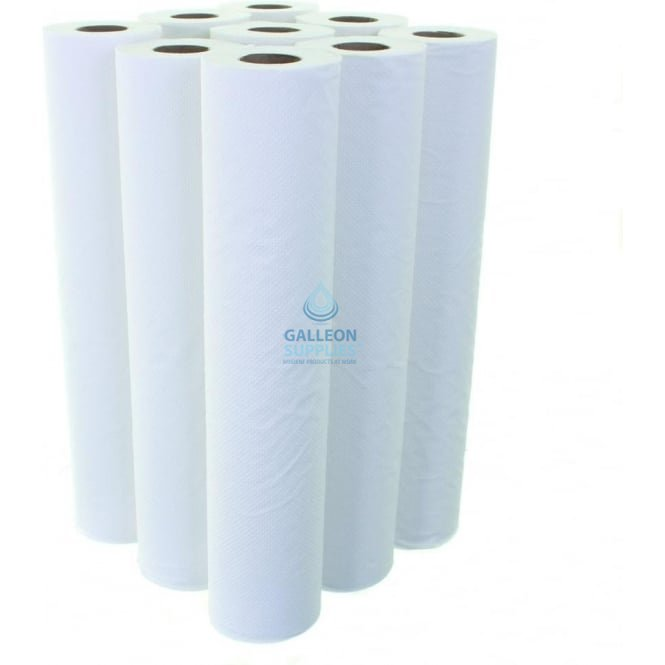 Galleon Value 2 Ply White Couch Rolls - Pallet