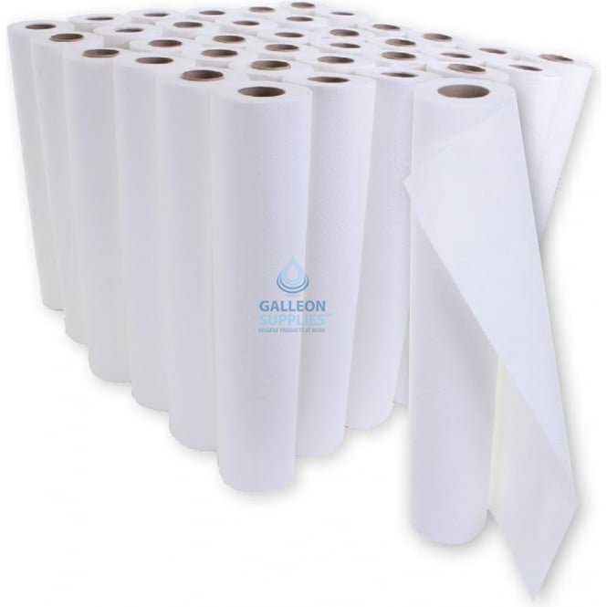 Galleon Value 2 Ply White Couch Rolls - Ready Made Parcel