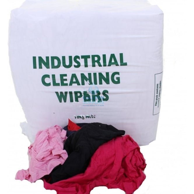 Galleon Value Cleaning Rags - Cheap Mixed Rag - Coloured
