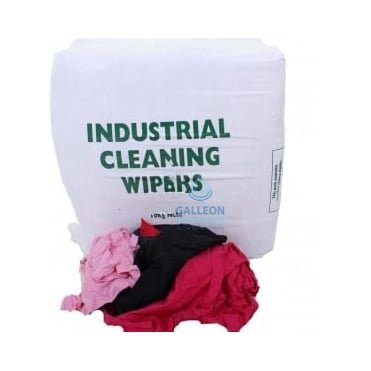 Value Cleaning Rags - Cheap Mixed Rag - Coloured