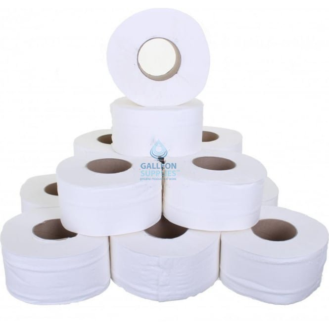 "Galleon Value Mini Jumbo Toilet Rolls - 2 Ply - Embossed - 3"" Core"