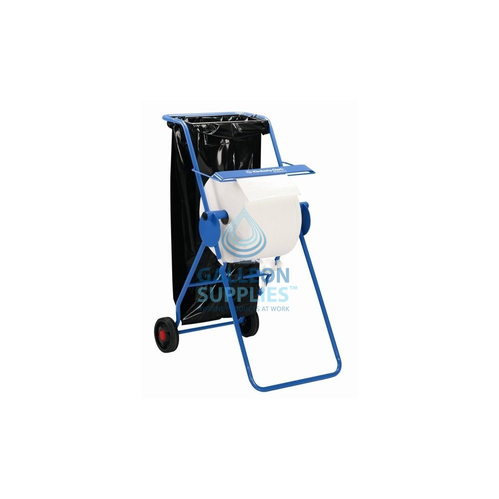 Kimberly Clark Workshop Wiper Roll Stand On Wheels With