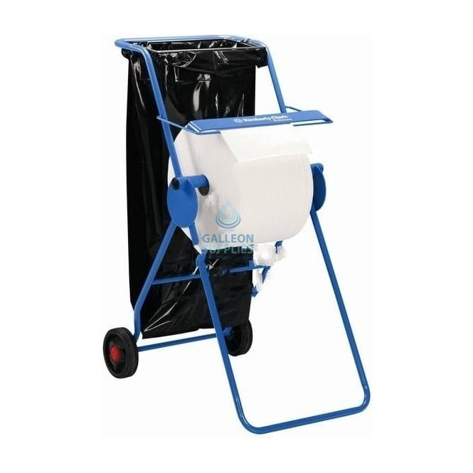 Kimberly Clark Workshop Wiper Roll Stand On Wheels With Bin Liner Holder