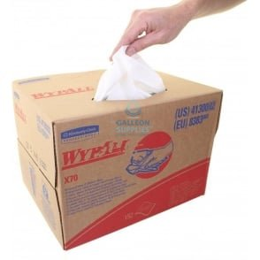 Workshop Wipes : Kimberly Clark Wypall X 70 Brag Box