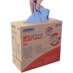Workshop Wipes : Kimberly Clark Wypall X 80 Pop Up Boxes