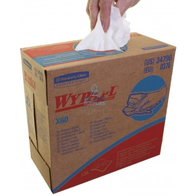 Kimberly Clark Workshop Wipes Wypall X 60 Pop Up Boxes